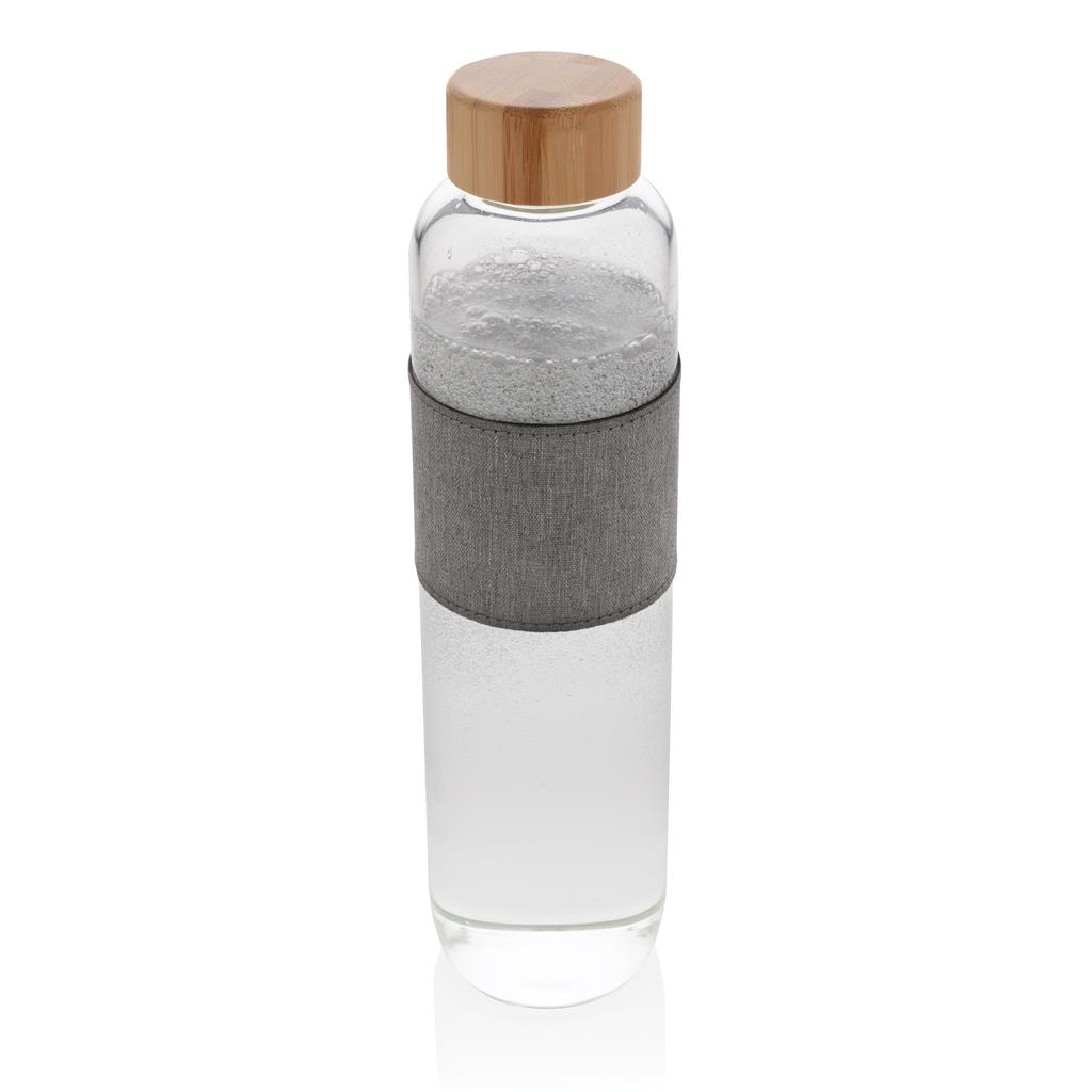 Impact Borosilicate Glass Bottle With Bamboo Lid