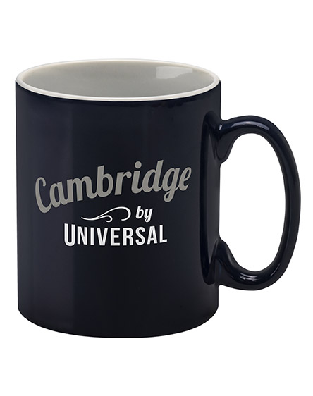 cambridge mugs branded universal blue and white