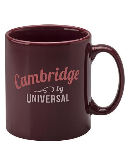 cambridge mugs branded universal maroon burgundy red