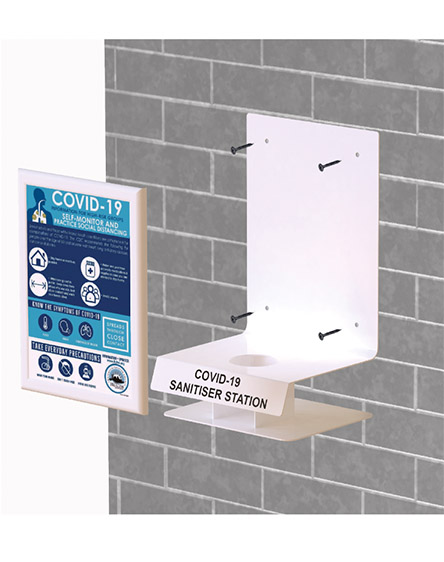 Covid-19 Anti-Virus Gel Sanitisation Stand Points Fixing Method