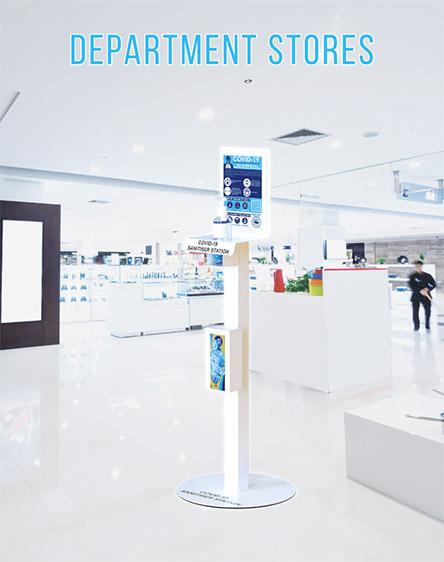 Covid-19 Anti-Virus Gel Sanitisation Stand Points for Department and Retail Stores UK and Ireland