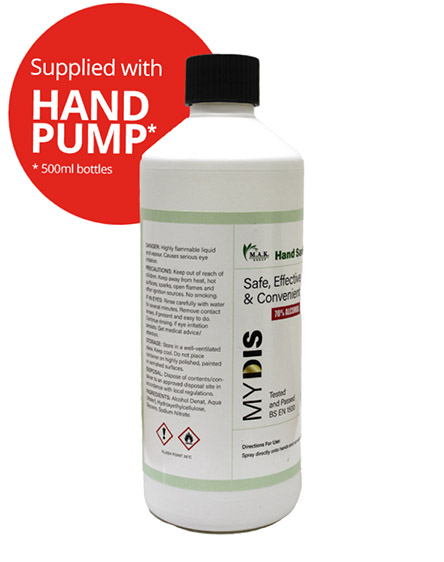 Sanitising Hand Gel for Covid-19 Virus UK 70 percent Alcohol