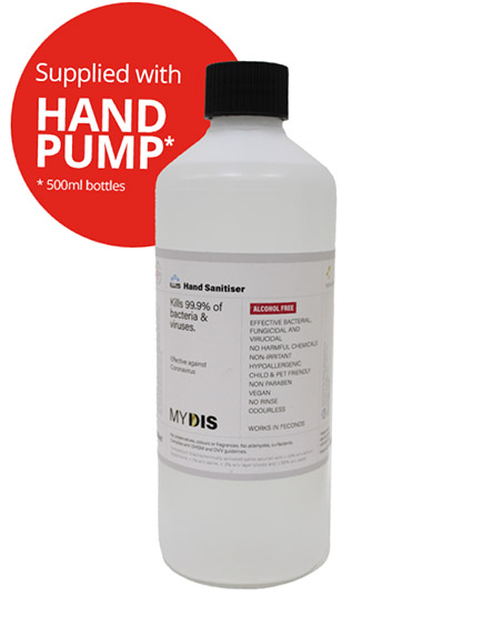 Sanitising Hand Gel with Pump for Covid-19 Virus UK