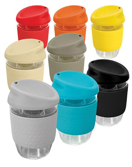 kiato branded reusable glass coffee cups main universal
