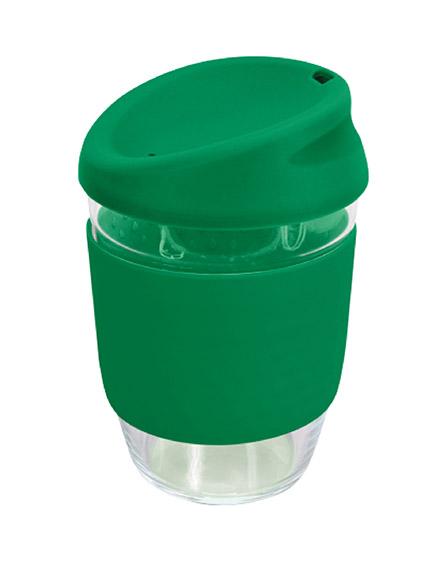 kiato branded reusable glass coffee cups green