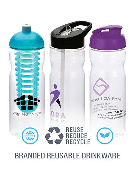 h2o tritan base sports water bottles BRANDED