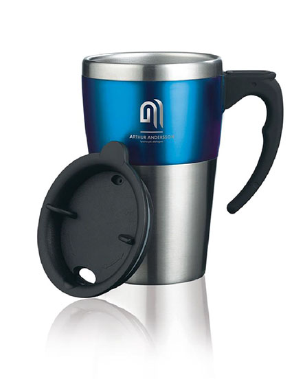 highland travel mug branded for your corp identity