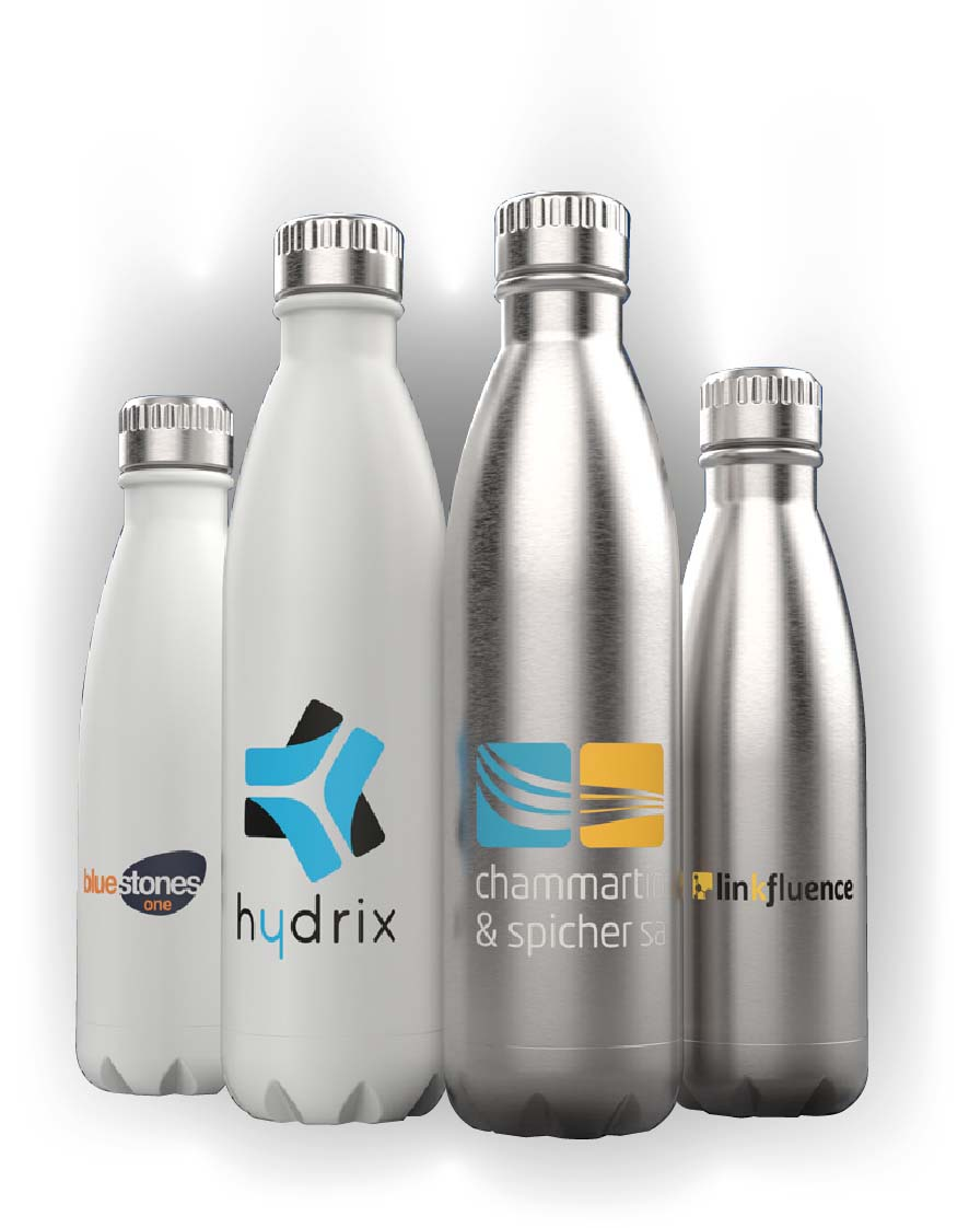 stainless steel branded bottles