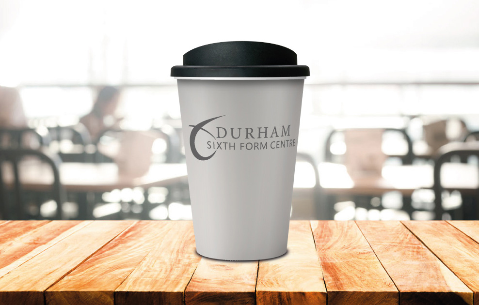 durham 6th form reusable coffee tumblers by universal mugs