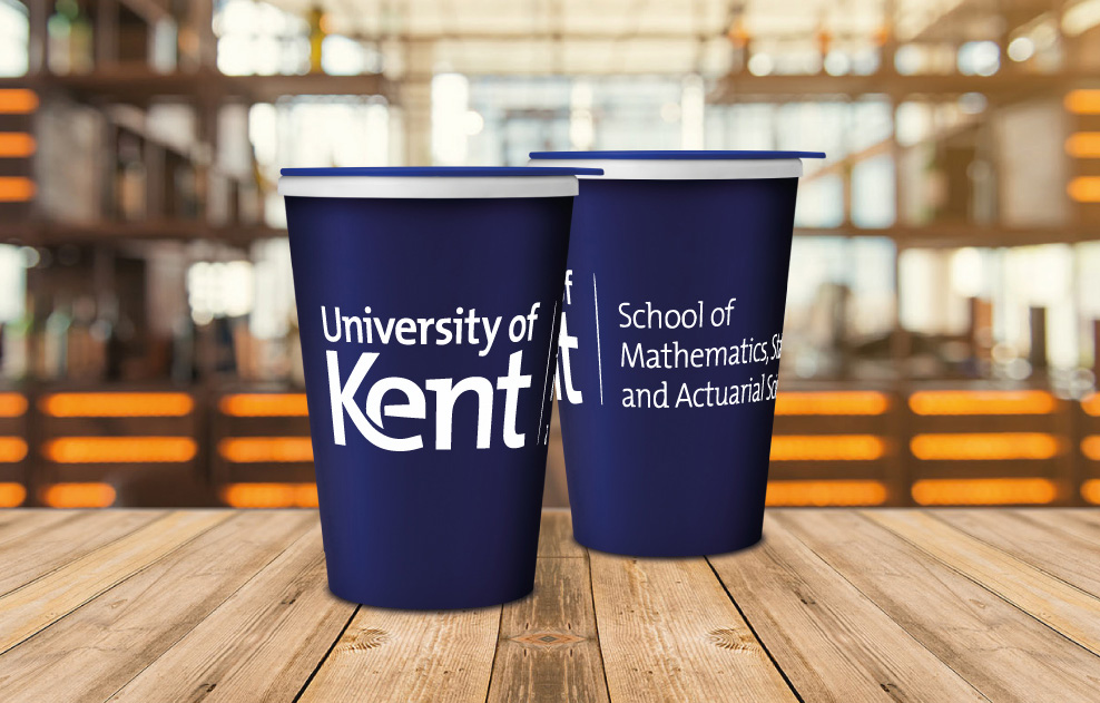 Kent University Branded Reusable Coffee Cups