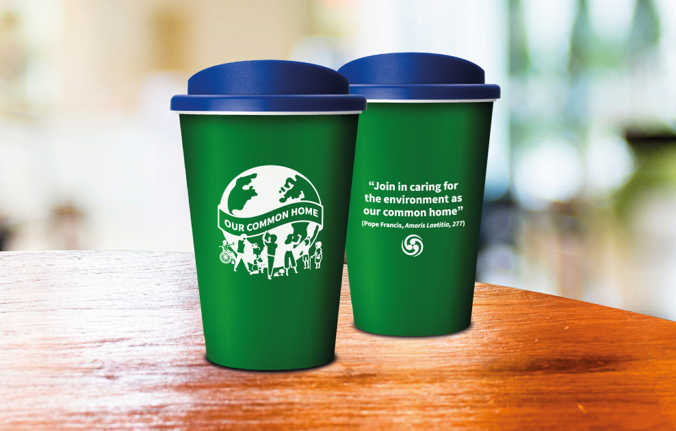 pope visit to dublin reusable coffee cups